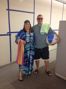Dorie Wallace and Richard Sykora– Pool Party Day