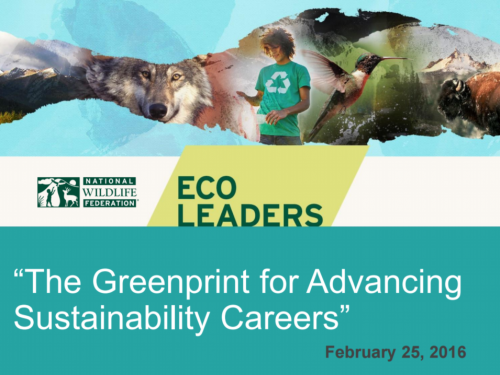 The Greenprint for Advancing Sustainability Careers