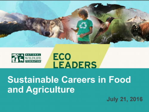 Sustainable Careers in Food and Agriculture