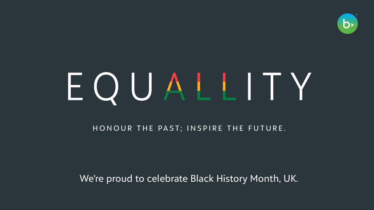 Honour The Past. Inspire The Future. Blackbaud Celebrates Black History Month, UK 7984