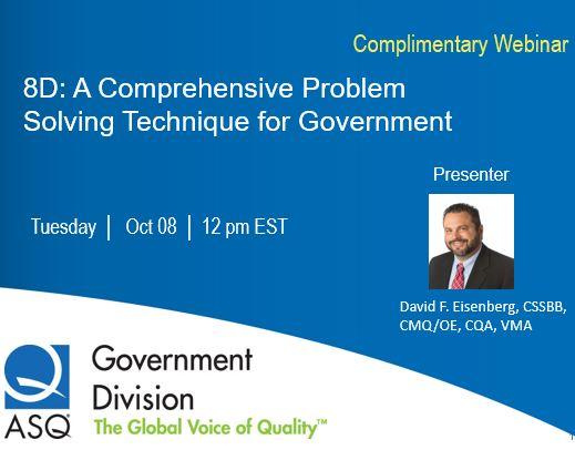 8D: A COMPREHENSIVE PROBLEM SOLVING TECHNIQUE FOR GOVERNMENT 1180
