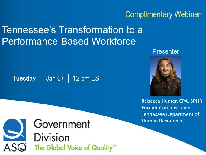 TENNESSEE'S TRANSFORMATION TO A PERFORMANCE-BASED WORKFORCE 1466