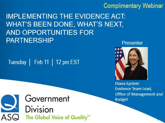 IMPLEMENTING THE EVIDENCE ACT: WHAT'S BEEN DONE, WHAT'S NEXT, AND OPPORTUNITIES FOR PARTNERSHIP 1601