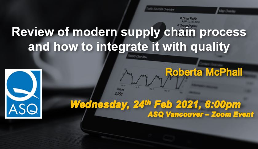 Review of modern supply chain process and how to integrate it with quality - Free Webinar! 2745