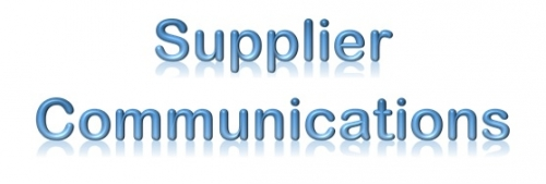 Supplier Communications