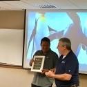 Jair (left) receives a plaque of appreciation from Jim Spichiger 3763