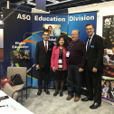 Benito Flores (Society Chair Elect), Belinda Chavez (Division Past Chair), Ross Henderson (Division member, booth attendant), and Francisco Santos (Society Treasurer) 7705