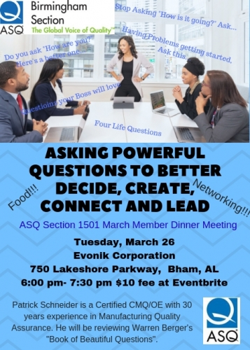March 26th Meeting Topic