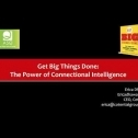 Webinar Title: Get Big Things Done: The Power of Connectional Intelligence<br /> Presenter: Erica Dhawan<br /> Webinar Date: February 13, 2019<br /> <br /> We typically associate success and leadership with smarts, passion and luck. But in today's hypercompetitive world, even those gifts aren't enough. Strategist Erica Dhawan argues that the game changer is a thoroughly modern skill called Connectional Intelligence (CxQ).  As radical a concept as Emotional Intelligence was in the 90s, Connectional Intelligence is helping people enlist supporters, accelerate innovation, develop strategies and sustain solutions to big problems.<br /> <br /> This dynamic webcast explores using connectional intelligence to boost your leadership skills for career success. You'll hear real-life stories and leave with an action plan to become a power player in your organization, including:<br /> - How anyone can excel not just through skills and smarts, but through Connectional Intelligence<br /> - Keys to leveraging your networks and connections, and creating contagious positive results<br /> - Successful tactics used to address connectional overload in changing turbulent times<br /> - How leaders create deep connections of fierce loyalty and respect from their team and customers<br /> - How connectionally intelligent leaders outperform the competition and create remarkable results