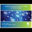 """Webinar Title: Reflective Leadership is critical to setting the Quality Strategy<br /> Presenter: Deborah Coviello<br /> ASQ HD&L Webinar Date: June 12, 2019<br /> <br /> This webinar shares a story of """"Reflective Leadership"""" where we examined """"Why"""" we lead and """"How"""" we lead may be more important than the details of """"What"""" we lead. This presentation may not be the solution for all Quality leaders, but it's a conversation about what you might want to do if you're not getting the desired results.<br /> <br /> Key takeaways:<br /> - Examples of how typical Quality leadership delivers strategic objectives and tactical plans.<br /> - Open dialog of what can be a better way to look inside and discover Why we are Quality leaders and what is important or our purpose. We also look at How we lead and improvement ways.<br /> - Call for action: re-evaluate Strategy, Roadmap and reflect on why and how."""