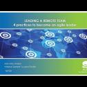 Webinar: Leading a remote team
