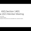 Section 1401 - Greater El Paso Section June 2021 membership meeting. <br /> Date: June 15, 2021 <br /> Speaker: Alfonso Enriquez <br /> Topic: The factors in the process of an automobile seat  nonwoven retainer