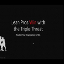 Speaker: Jason D. Farley -UTEP Texas Manufacturing Assistance Center<br /> Topic: Lean Pros win with the Triple Threat<br />
