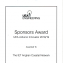 UEA Arduino Innovator - Project Demonstrations and Awards 34810