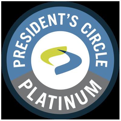 President's Circle - Platinum Badge