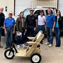 World Wide Mobility fund raiser Pull Cart to be decorated by SME 287. 5078
